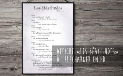 """Affiche """"les Béatitudes"""" à télécharger"""
