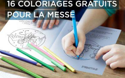 Un livret de 16 coloriages gratuits pour aider les plus petits à suivre la messe