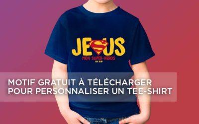 Tee-shirt personnalisé Jésus Super-héros