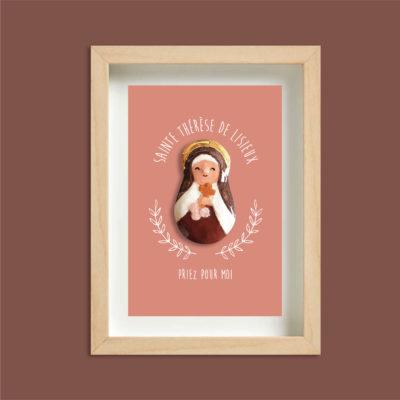 Cadre saint patron personnalisé - céramique et or
