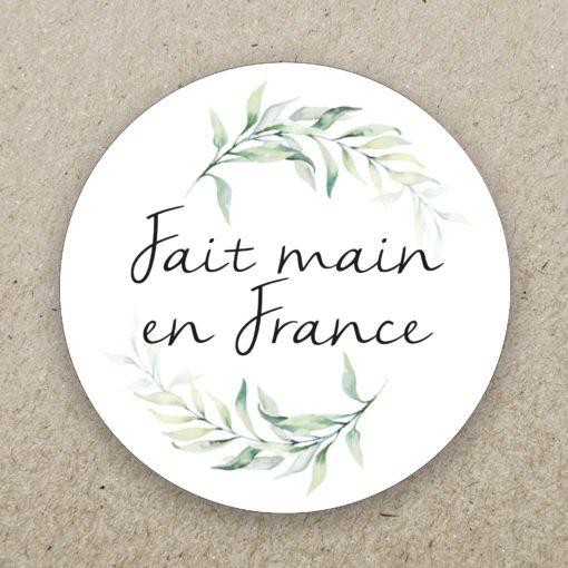 """Stickers ronds personnalisés - """"fait main en France"""""""