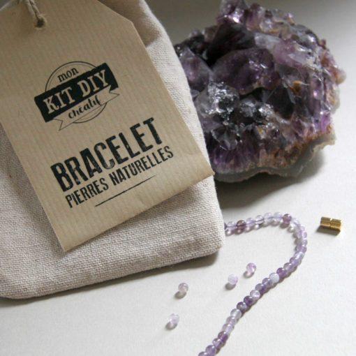 Kit créatif DIY bracelet Améthyste