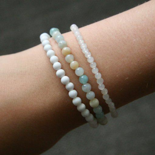 Assortiment de bracelets en Amazonite et Jade - Kit créatif DIY