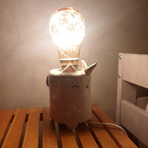 Veilleuse lampe artisanale en céramique