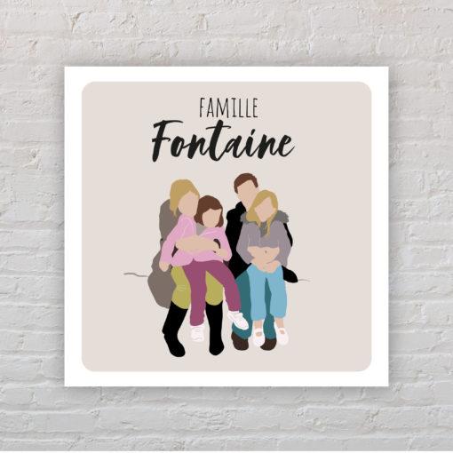 Plaque de maison Famille