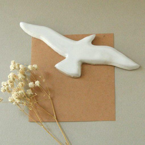 Aimant oiseau en céramique