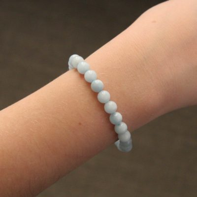 Bracelet simple aigue-marine