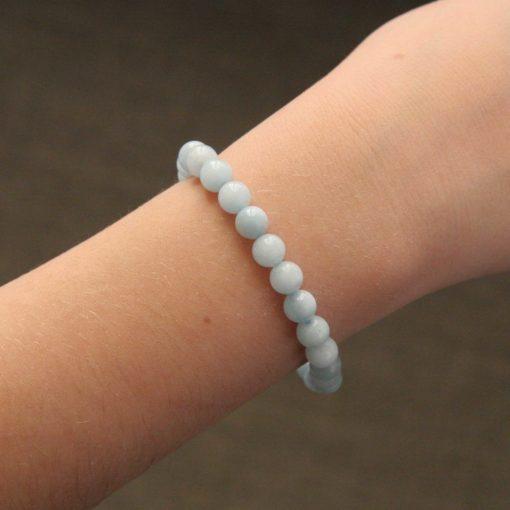 Bracelet simple aigue-marine