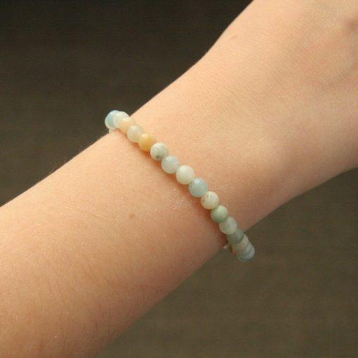 Bracelet simple amazonite
