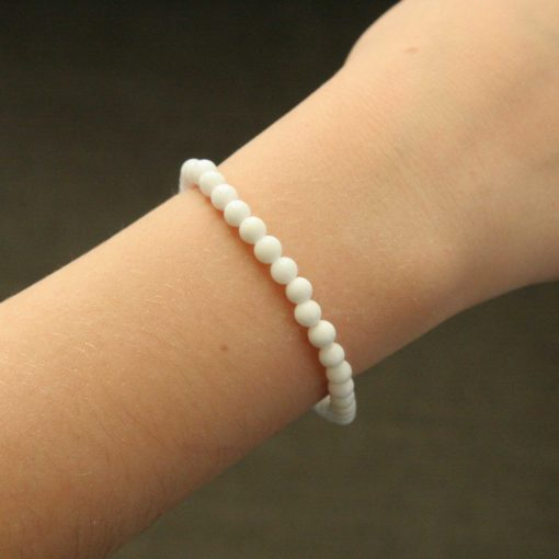Bracelet simple jade blanc