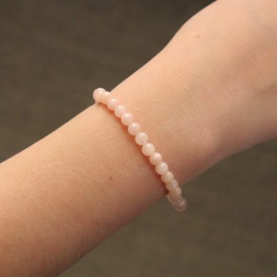 Bracelet simple jade rose