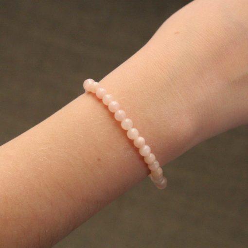 Bracelet simple jade rose