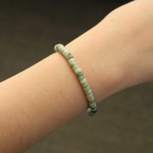 Bracelet simple jade vert