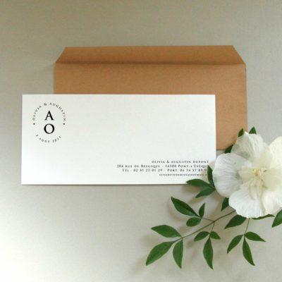 Carte de correspondance personnalisée Initiales