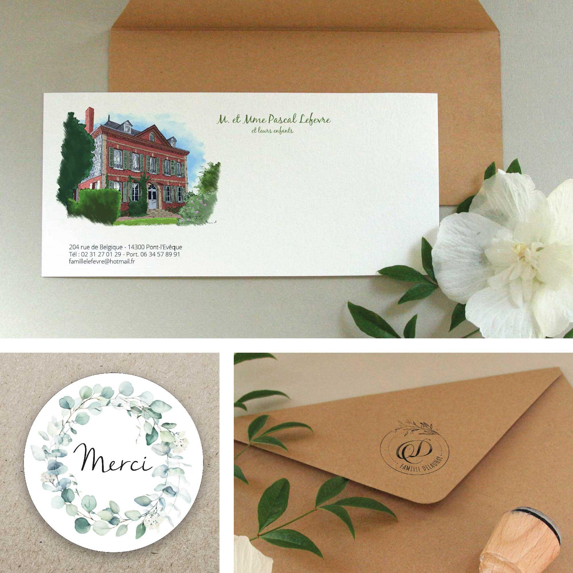 Papeterie décorative et personnalisée : carte, tampon, sticker