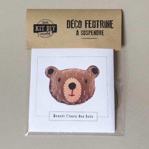 Suspension ours en feutrine - kit créatif DIY